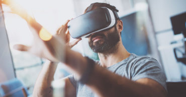 VR headset office work interactive future