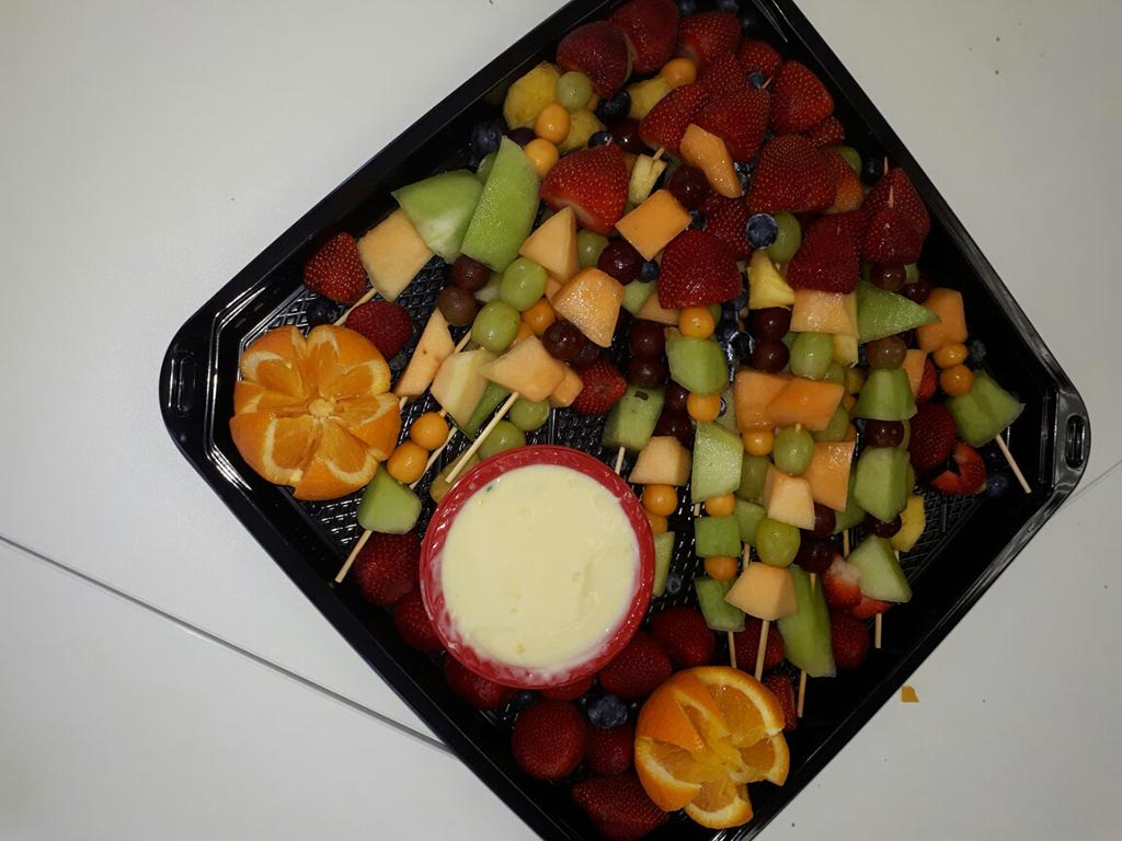 Fruit at networking event at The Workspace