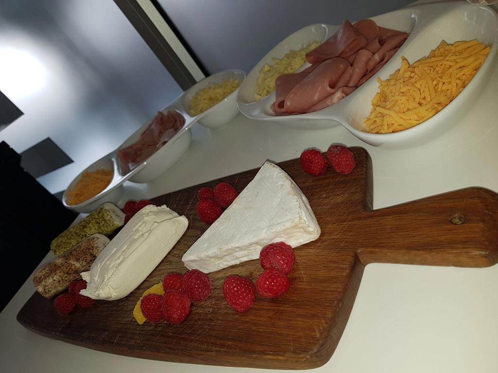 Cheese board at networking event at The Workspace