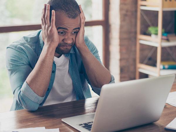 stressed freelancer business work