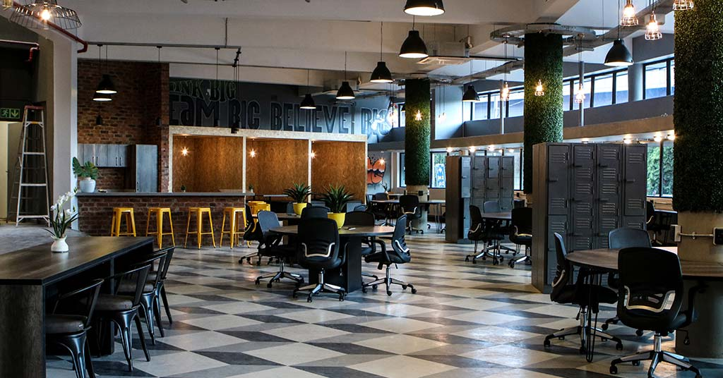 trendy office coworking small business