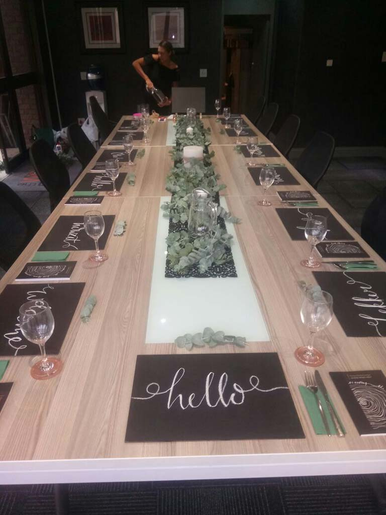 community dinner table