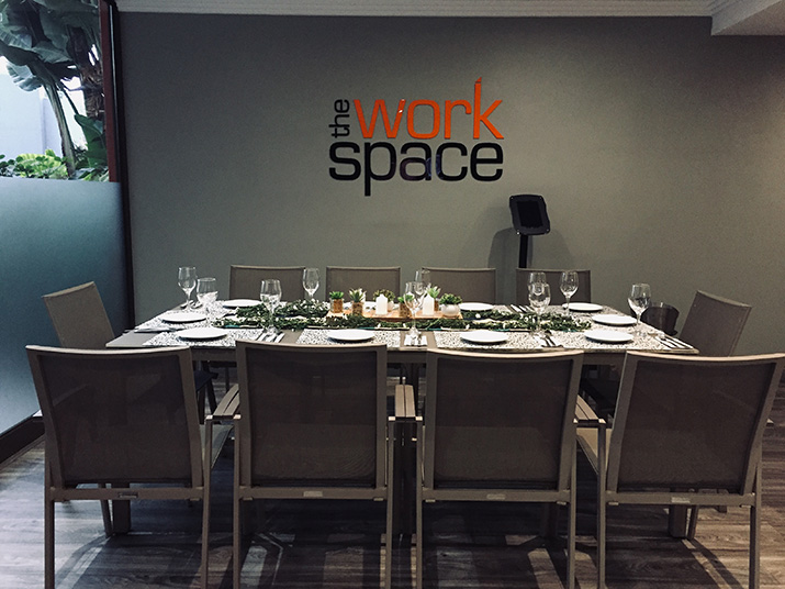 the workspace dinner