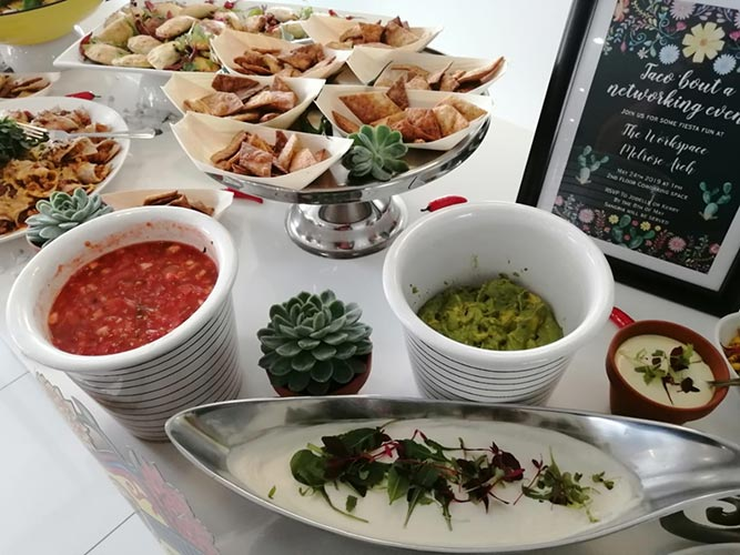 food at networking event melrose arch