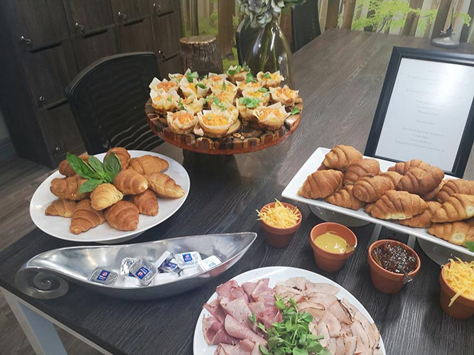 food at networking event morningside manor