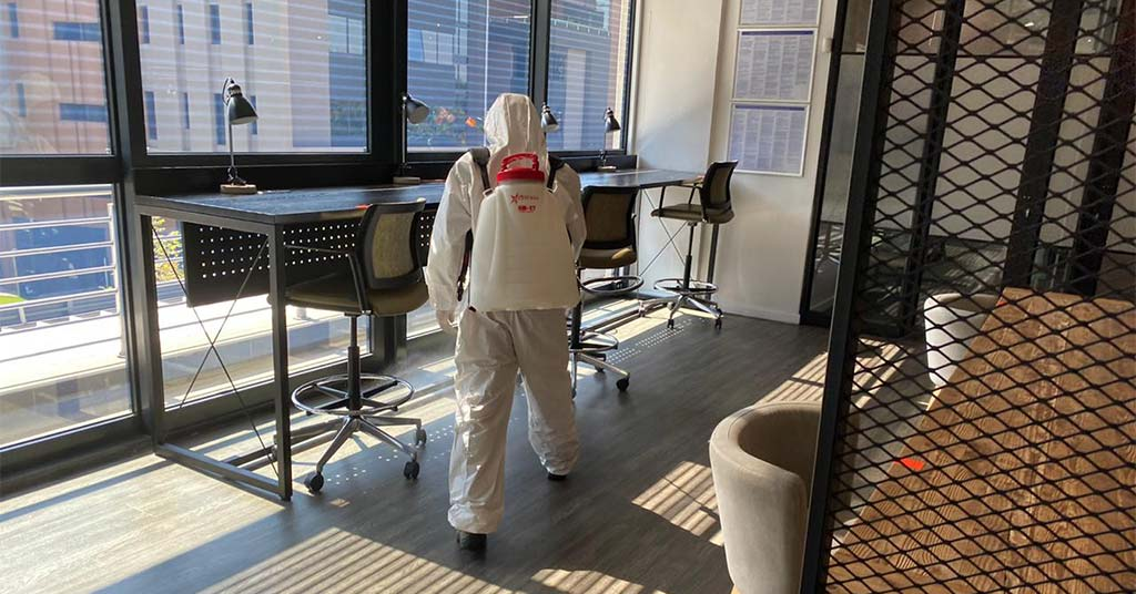 the workspace covid 19 sanitizing safety measures